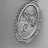 Saint Christopher Girl Soccer Medal On Chain