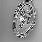 Saint Christopher Girl Soccer Medal On Chain