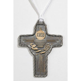 First Communion Metal Cross Pendant