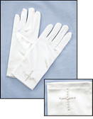 First Communion Gloves-Pearl Cross