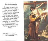 Morning Offering Prayer On Card
