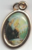 Padre Pio Color Medal