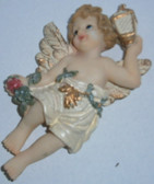 Cherub Angel Magnet With Lantern and Apple