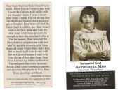 St. Antonietta Meo Prayer Card
