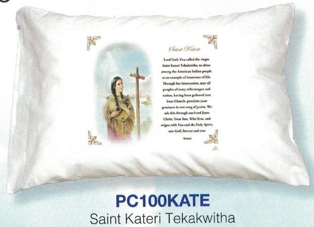 Pillowcase In Spanish Beauteous St Kateri Tekakwitha Prayer Pillowcase