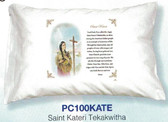 St. Kateri Tekakwitha Prayer Pillowcase (English Or Spanish)