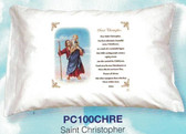 St. Christopher Prayer Pillowcase ( English Or Spanish)