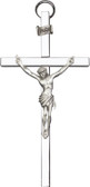 Traditional Bliss Wall Crucifix Silver on Silver