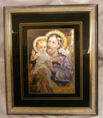 St. Joseph And Jesus Framed Picture