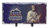 St. Peter with Scripture Horizontal Slate Tile
