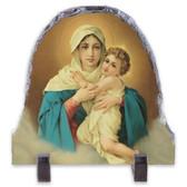 Schoenstatt Madonna Arched Slate Tile