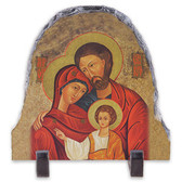 Holy Family Arched Slate Tile