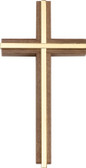 Bliss Plain Walnut Wall Cross