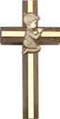 Bliss Praying Boy or Girl Walnut Cross