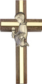 Bliss Walnut Cross with Communion Boy or Girl