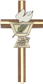 Bliss Walnut Cross with Confirmation Chalice