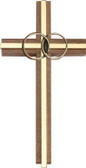 Bliss Walnut Wedding Cross