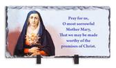 Sorrowful Mother Prayer on Horizontal Slate Tile