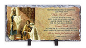 Wedding of Joseph and Mary Horizontal Slate Tile