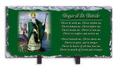 Breastplate of Saint Patrick Prayer Horizontal Slate Tile with Image of St. Patrick