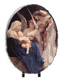Song of the Angels Oval Slate Tile