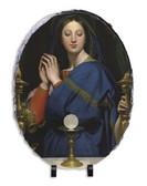 Madonna of the Host Oval Slate Tile