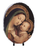 Our Lady of Good Counsel Oval Slate Tile