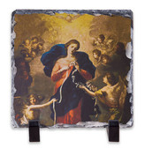 Mary Undoer of Knots Square Slate Tile