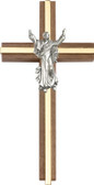 Bliss Walnut Contemporary Risen Christ Cross