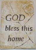 God Bless This Home Square Wall Plaque
