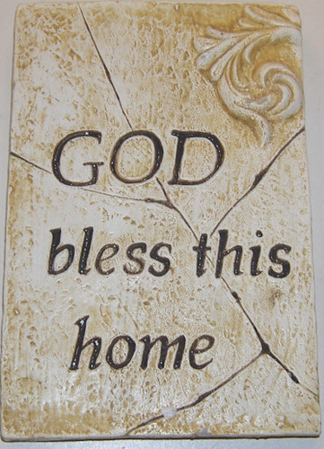 Buy God Bless This Home Square Wall Plaque