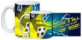 """""""Doing It All"""" Soccer Mug"""