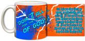 """Doing It All"" Graphic Mug Orange"