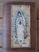 Our Lady of Guadalupe handcrafted leather breviary cover