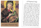 Our Lady Of Perpetual Help Prayer Card