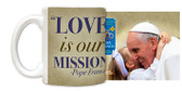 Pope Francis embracing Child Commemorative Visit Mug
