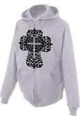 Benedictine Cross Zipper Hoodie