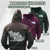 Barcode Zipper Hoodie