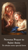 Front of Novena to St. Anne Prayer Card