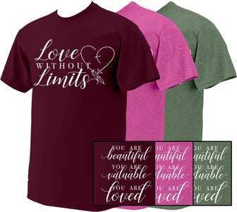 Love Without Limits Cursive T-Shirt