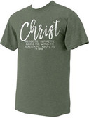 """Christ"" St. Patrick Heather Green T-Shirt"