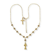 First Communion Gold Bead Necklace