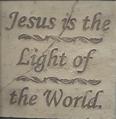 Jesus Is The Light Of The World Wall Plaque