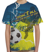 """Doing It All"" Soccer Graphic Children's Poly T-Shirt"