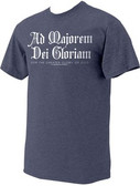 """Ad Majorem"" St. Ignatius of Loyola Heather Navy T-Shirt"