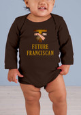 Future Franciscan Long-Sleeve Baby Onesie