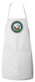 Navy Apron (White)