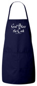 God Bless the Cook (He Needs It) Apron (Navy)