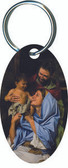 Holy Family II Oval Keychain