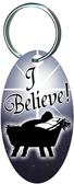 I Believe Oval Keychain